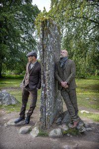 Sam Heughan Graham McTavish Clava Cairns Men in kilts