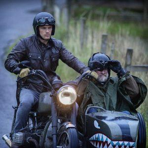 Sam heughan Graham McTavish Men in kilts moto side car