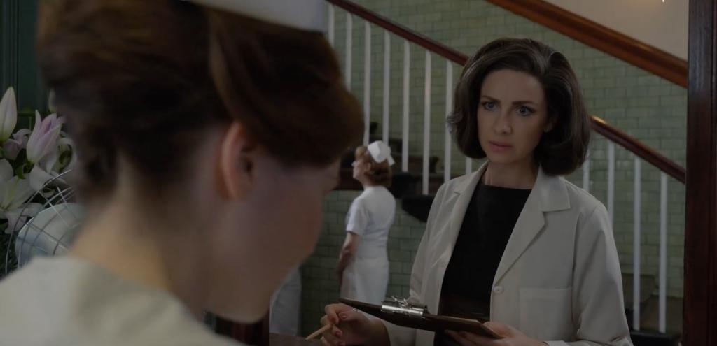 Claire et l'infirmière Jeffries episode 5 saison 5 Outlander
