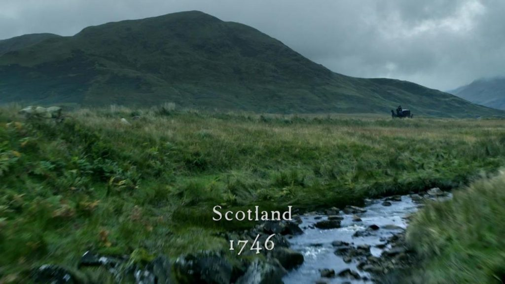 Outlander Ecosse 1746 flashback Jocasta