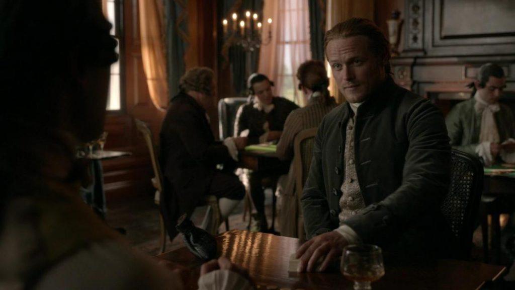 partie de whist Outlander Jamie Wylie saison 5 episode 6