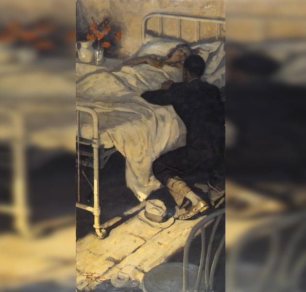 Outlander Frank au chevet de Claire 1948