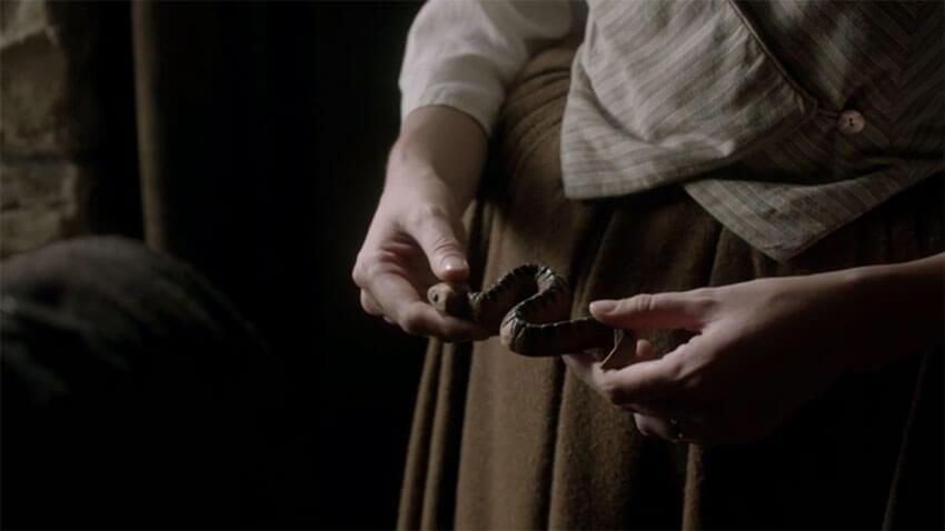 Outlander Le serpent que Jamie avait reçu de son frère Willie
