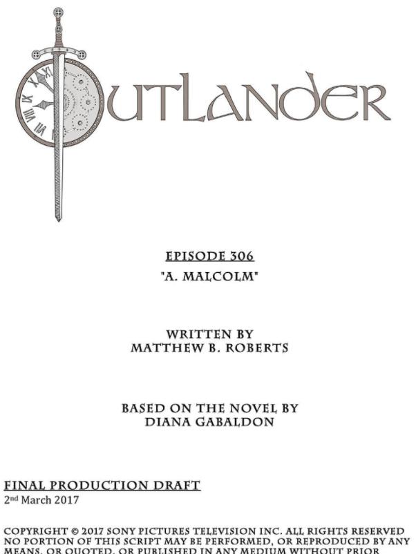 extrait du script de l'épisode A. Malcolm