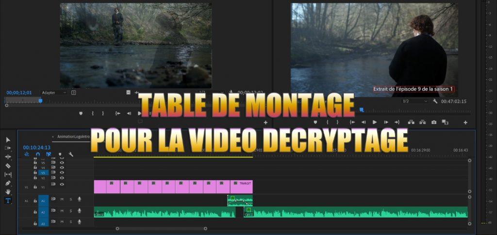 Montage de la vidéo décryptage Outlander