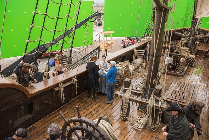 outlander épisode 9 saison 3 | tournage sur le bateau
