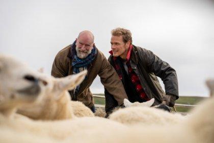 men in kilts sheep mouton