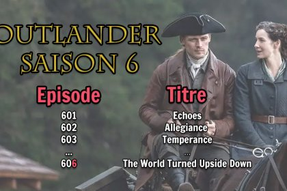 titres episodes saison 6 outlander